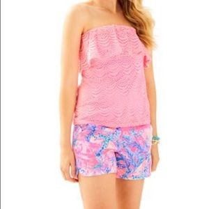 NWT Lilly Pulitzer Wiley Tube Top Coral Reef Tint